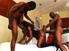 Threesome, Ebony, Hypnotic, Facials, Anal
