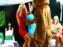 Babes, Naked, On, Dance, Group, Bear