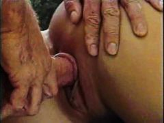 Outdoor, High Heels, Anal, Retro, Hairy Pussy, Pussy, Curly Hair, Fucking