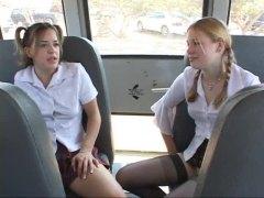 في الحافلة, نيك جامد, السمراوات, مص, ظرفاء, مص, شقراوات