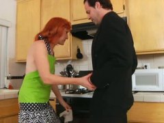 Hairy, Oral, Red Head, Blowjob, Kitchen, Redheads, Anilos, Mature