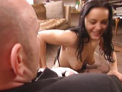 Facials, Liza Del Sierra, Maid, French Maid, Fucked, Group, French, Double Penetration