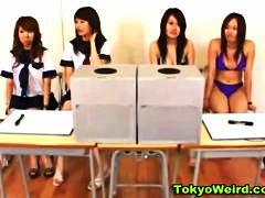 Japonesas, Asiáticas, Escolas, Punheta Com As Mãos, Fetish