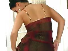 Panties, Brunette, Nylons, Stripping, Stockings