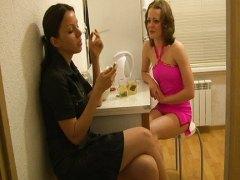 Amateur, Lesbian, Action, Kitchen