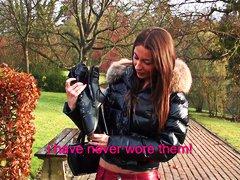 بنات جميلات, أحذية طويلة, فرنسيات, مراهقات, أول مرة