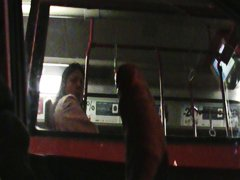 flashing bus