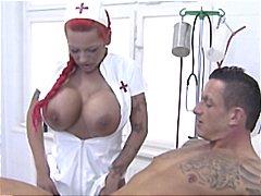 Redhead, Red Head, Hardcore, Big Tits, Nurse, Gives, Head, Masturbates