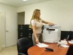 Office, Megan Jones, Reality, Blonde, Big Tits, Doggystyle, Ass, Cumshot