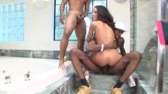 جنس جماعى, حمام, السمراوات, رجال, أعراق مختلفة