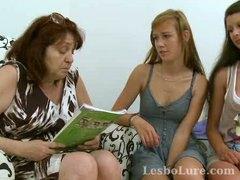 Teen, Goes, Lesbian, Lesbo, Group