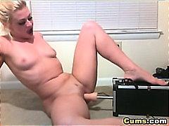 Giochino Sexy, In Solitaria, Dita, Bionde, Orgasmo, Eiaculazione Con Bersaglio, Hardcore, Webcam