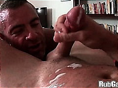 Shaved, Muscule, Hand Job, Blowjob, Huge Dick, Huge Cock, Bear, Oil