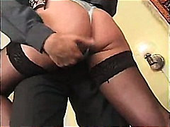 Longhair, Kissing, Cumshot, Stockings, Fetish, Pussyrubbing, Footjob, Upskirt