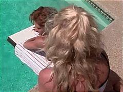 خارج المنزل, نهود كبيرة, حمام السباحة, السمراوات, لعبة