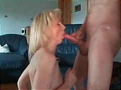 Cumshot, Pantyhose, Ass, Mature, Blonde