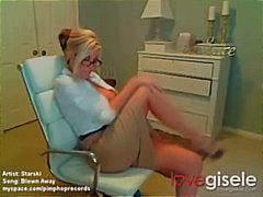 Tits, Blonde, Striptease, Big, Amateur, Homemade, Webcam, Glasses