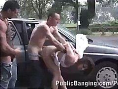 2 Hombres 1 Mujer, Ménage À Trois, Castañas, Tetitas Pequeñas, Hardcore, Sexo En Grupo, Flaca