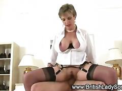 Fetish, Shoes, Handjob, Cumshot, Stockings, Nylon, British, Femdom