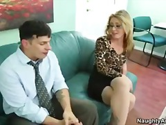 Office, Sex, Blonde, Pussy, Naughty-America, Pornstar, Sheena, Stockings