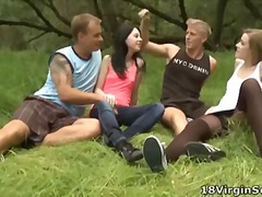 Teen, Group-Sex, T.y., Outdoors