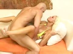 Cum-Shot, Massive-Cock, Sperm, Eyes, Hard, Facial, Blonde, Big-Tits