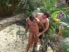 Gay, Shaved, Outdoors, Hardcore