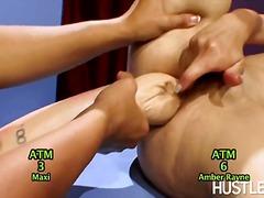 Chick, Hand-Job, Huge-Dildo, Tina Toy, Girl-On-Girl, Feet, Uma, Pornstar