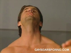 Gym, 3Some, Oral, Gay, Blowjob, Hardcore, Locker, Bear
