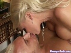 Big-Tits, Blonde, Milf, Kissing, Blowjob