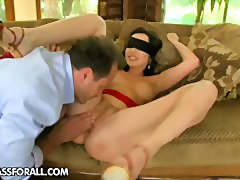 Brunette, Pussy-Eating, Fingering, Ass-Licking, Ass, Swapping, Kissing, Blindfold