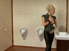 Bizarre, Gloryhole, Masturbation, Blonde