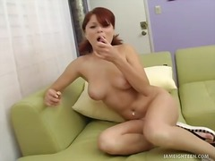 Solo, Big-Tits, Redhead, Fingering, Shaved