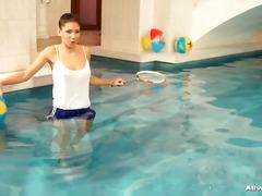 حمام السباحة, حمام, نيك قوى, سحاقيات, فتشية