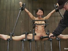 Orgasm, Bdsm, Chained, Slave, Asian, Humiliation, Shaved, Fetish