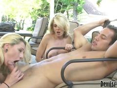 Ffm, Threesome, Cocksucking, Share, Blonde