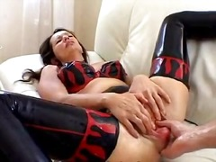 Analplay, Brunette, Mature, Milf, Latex