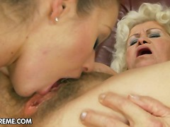 Pussy-Eating, Fingering, Eyes, Granny, Kissing