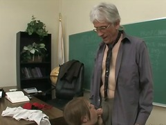 Older, Cock-Riding, Face-Fucking, Teacher, Daddy, Classroom, School, Old