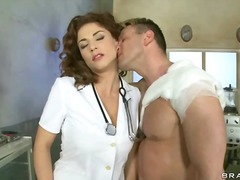 Redhead, White, Face-Fucking, Eyes, Doctor, Uniform, Brazzers, Lingerie-Videos.com