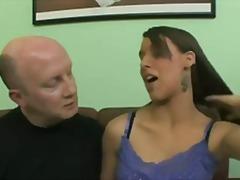 Oldvsyoung, Oral, Brunette, Oldman, Natasha Vega