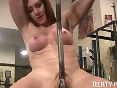 Pussy, Gym, Tits, Penetration, Masturbation, Rubbing, Legs, Kinky