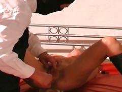 Masturbation, Spank, Fetish, Upper, Slave, Brunette, Bondage, Nipples