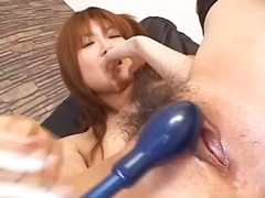 Toys, Vibrator, Brunette, Stockings, Sucking, Asian, Fingering