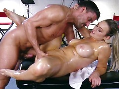 Oil, Brazzers, Massage, Spank, Rubbing, Juicy, Blonde, Pov