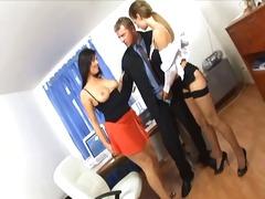 Rrjetëqorapet, Lingerie, Threesome, Hollopke, Në Zyre