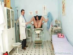 الطبيب, نكاح اليد, رسمى, طيز, تستمنى زبه بيدها, منظار