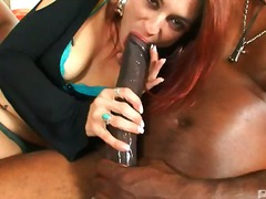 Milf, Interracia, Oral, Blowjob, Mask, Big, Black, Hardcore
