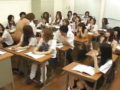 المعلم, يابانيات, مجموعات, واقعى, بنات مدارس