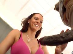 Brunette, Deep, Lesbian, Pornstar, Work, Balls, Double, Streets